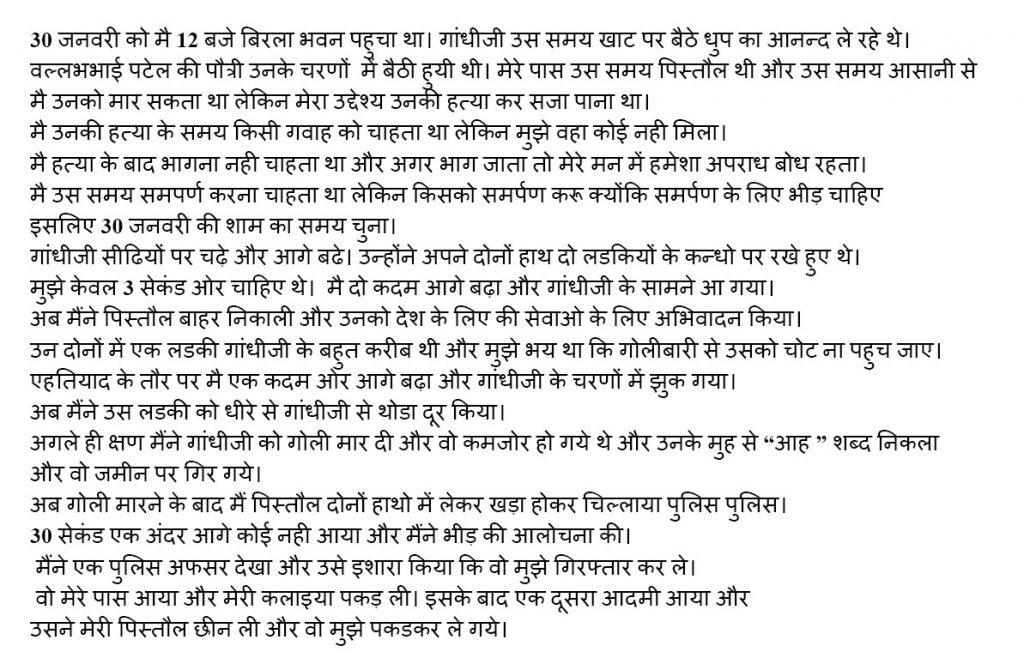 Why Nathuram Godse Killed Gandhi
